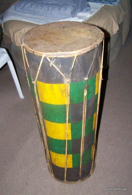 Antique Huge Real African Djembe Djun Drum