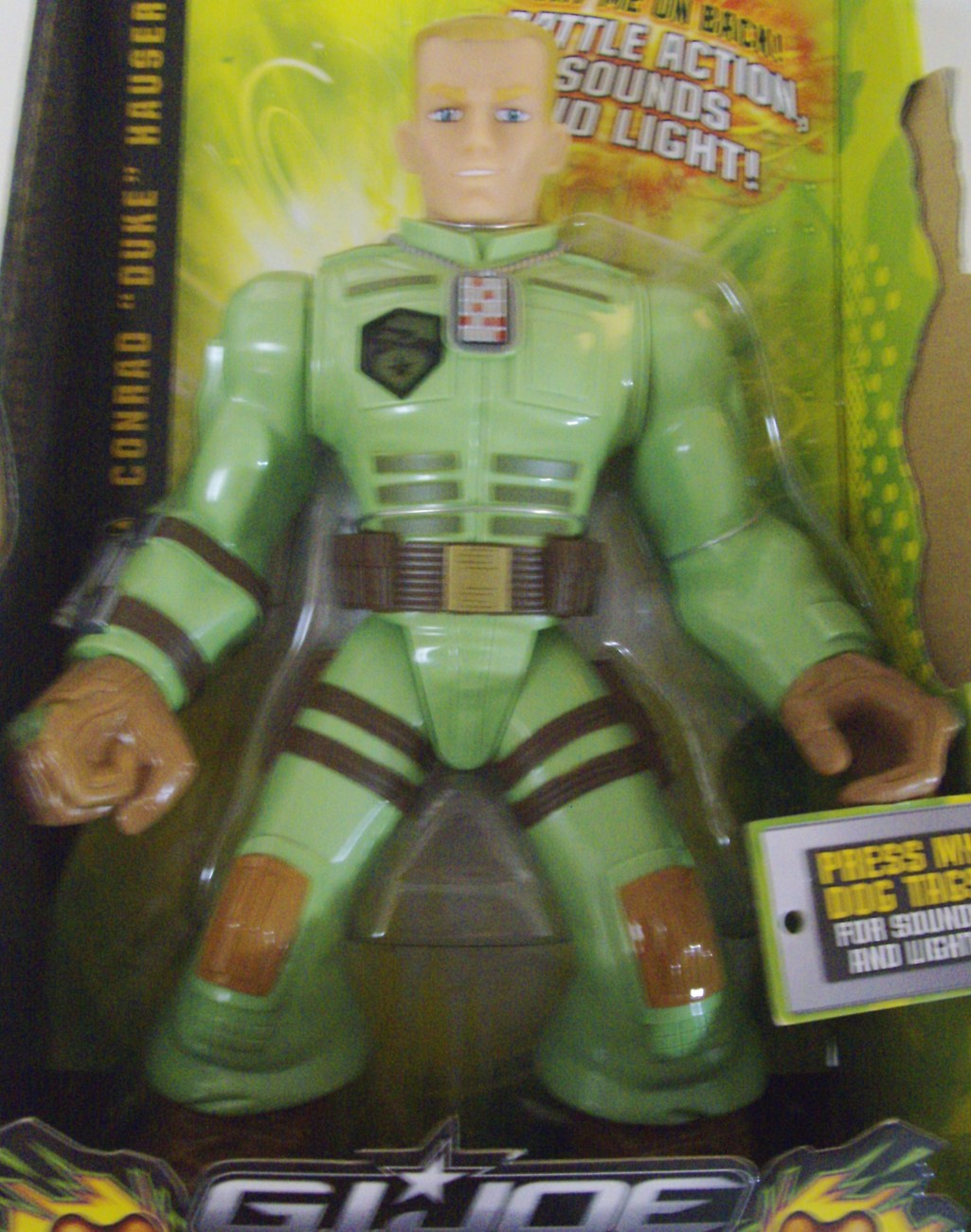 Primary image for G.I. Joe Tough Troopers Conrad Duke Hauser w/ Battle Action Sounds & Light - New