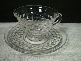 PAIR OF FOSTORIA AMERICAN CUPS & SAUCERS~~~ - $6.95