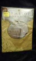 New Vtg Wilton Court Camelot Damask Oval Champagne Banquet Tablecloth 60... - €42,83 EUR