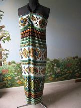 Saint Tropez West Women Beads Halter Long Jersy Dress SZ 18W NWT - $40.53