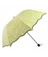 Aoosir Zebra Stripes UPF 50+ Sun Umbrella, Apple Green - $22.11