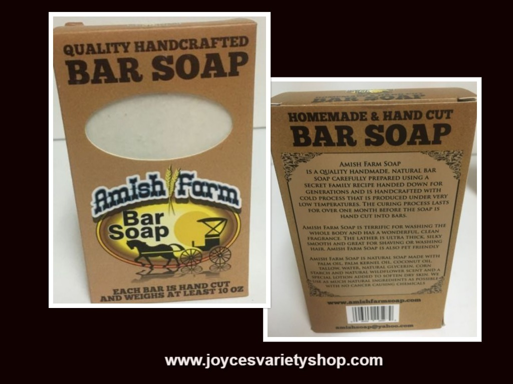 Amish Farm Bar Soap 10 Oz Variety of Colors Quality Handcrafted