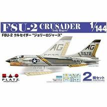 PLATZ 1/144 US F8U-2 CRUSADER Jolly Rogers 2pcs Set Model Kit Japan New - $24.41