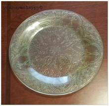 Vintage Indiana  Depression Glass Green Horseshoe Center Medallion Salad... - $9.90