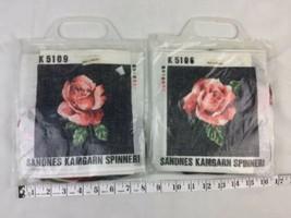 Vtg new Rose Cross Stitch Sandnes Kamgarn Spinneri Norwegian Two Kits - $23.36
