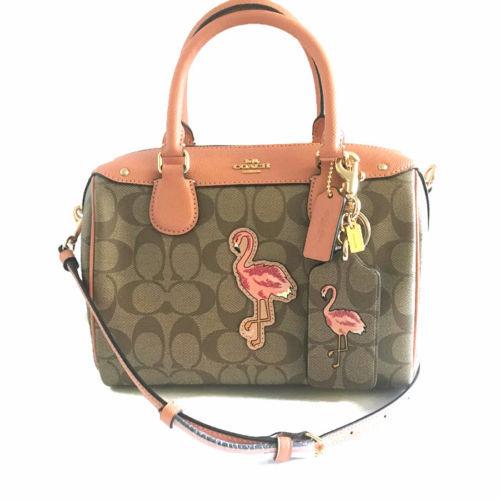 00ddd9fa8c84 ... new zealand coach mini bennett satchel hawaii flamingo khaki pvc peach  leather 28947 cff2e 9e2e5