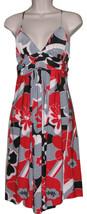 NWT BANANA USA Womens Empire Waist Sundress Criss-Cross Back Multi-Color... - $29.99