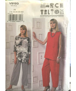 Vogue 9193 Misses Tunic Pants Sizes 16-24 Vintage Sewing Pattern Uncut - $26.43