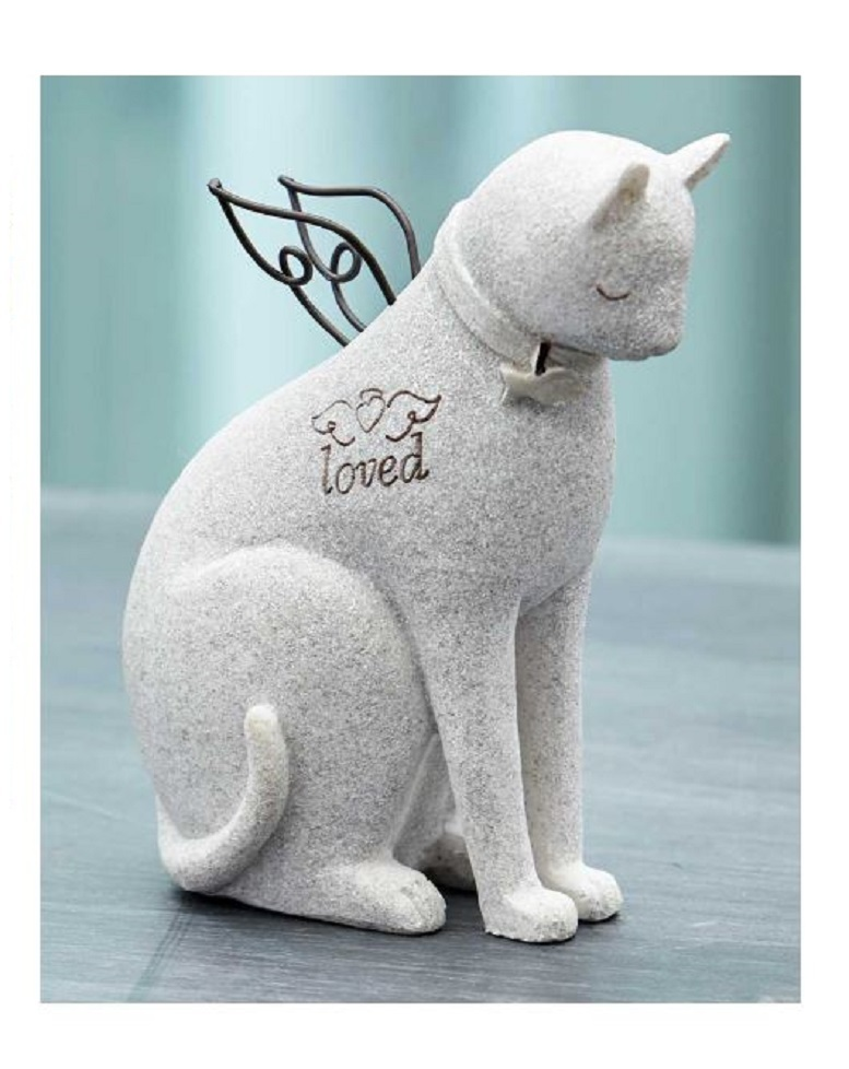 A Memorial To or Resting Place For Your Faithful Companion Pet Figurine or Urn
