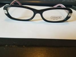 New COACH  HC6004 5034  50mm Lilly Black Rx Women Eyeglasses Frame..PERFECT - $48.51