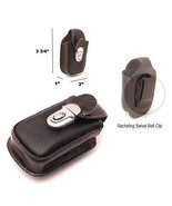 BELT CLIP CELL PHONE COFFEE LEATHER HOLSTER POUCH CASE - $6.90