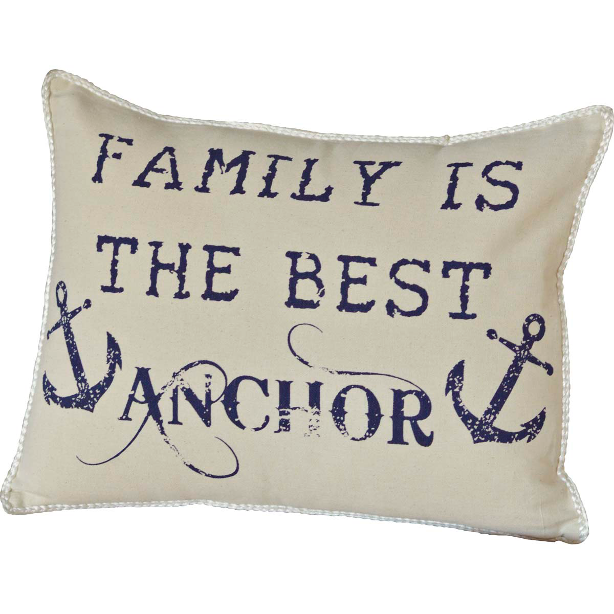 "Family Anchor Pillow - 14""x18"" - VHC Brands - Country Farmhouse Style/Nautical"