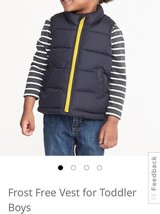 Old Navy Frost Free Vest For Toddler Boys: 3T - $15.34