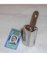 Gillette 1959 Fat Boy Razor TTO Replated Platinum E1–QZ12 - $170.00