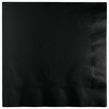 3 Ply 1/4 Fold Dinner Napkins Black Velvet/Case of 250 - £30.84 GBP