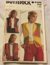 Butterick Sewing Pattern 4106 Size Large Misses Vest Uncut - $5.45