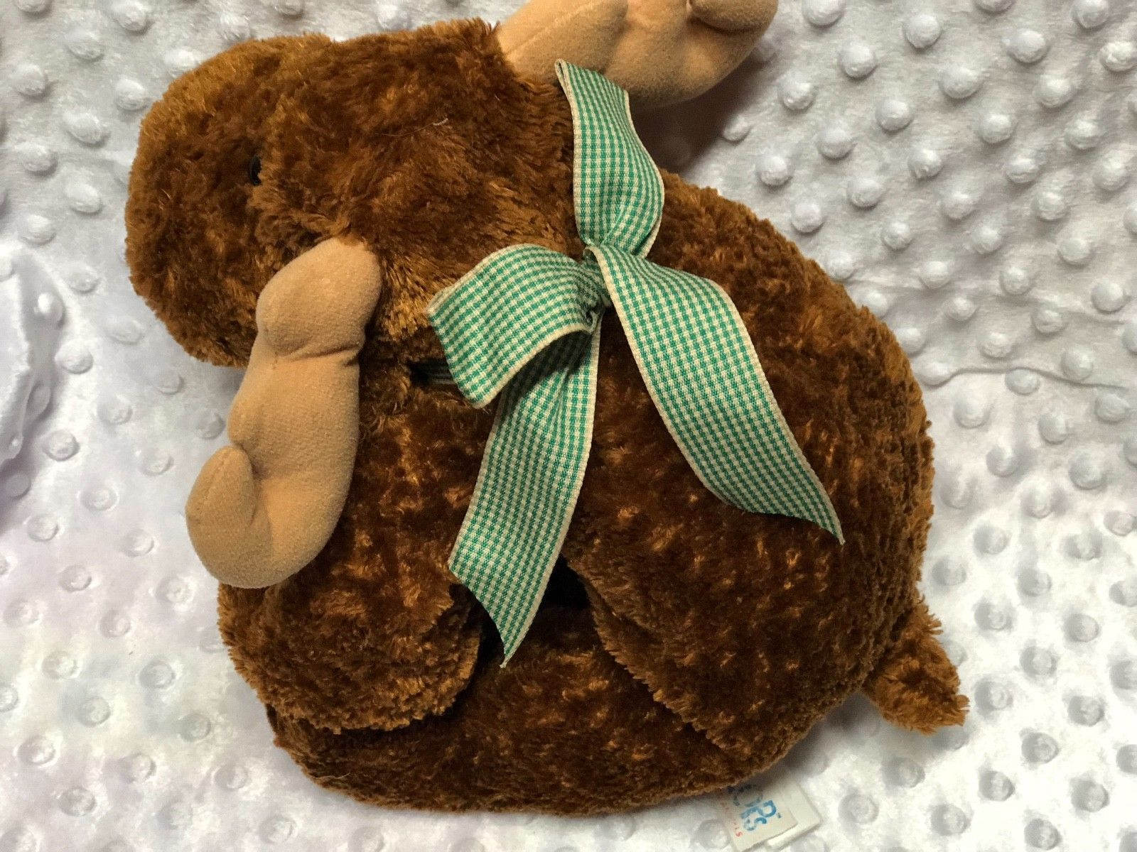 "Mary Meyer Mayer Flip Flops Plush Chocolate Moose Milton 12"" Brown"