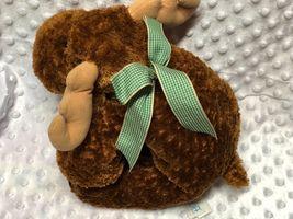 "Mary Meyer Mayer Flip Flops Plush Chocolate Moose Milton 12"" Brown image 3"