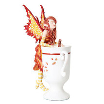 PTC 6.25 Inch Cider Fairy with Mug and Cinnamon Stick Statue Figurine - $27.22