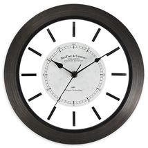 FirsTime & Co. Foundry 11-Inch Wall Clock in Brown - $30.44