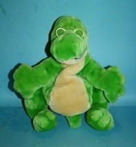 Dakin McGraw Hill Readasaurus Plush Green Dinosaur Puppet Glasses Soft S... - $43.51