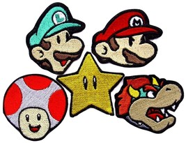 Super Mario Embroidered Patches Iron Sew On Bag Jeans Rock Jacket Badge ... - $2.88+