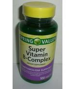 Spring Valley Super Vitamin B-Complex Metabolism Support 100 Tablets Exp... - $11.98