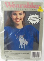 Wearable UNICORN Cross Stitch # 60274 Tear Away Canvas for Shirts Totes ... - $8.08