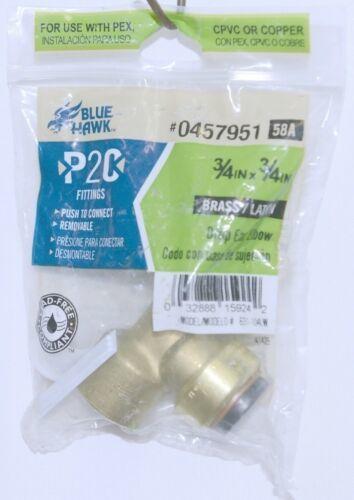 Blue Hawk 0457951 P2C Brass Drop Ear Elbow Fitting Lead Free Compliant