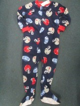 Carters football print footed fleece sleeper BRAND NEW WITH TAGS! SIZE 3T - $8.86