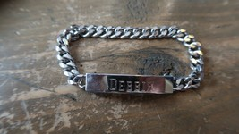 "Vintage SPEIDEL Rhodium Electroplate DEBBIE Bracelet 6.75"" - $19.54"