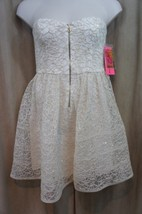 Betsey Johnson Dress Sz 12 Ivory Strapless Sequin Detail Cocktail Party ... - $1.513,97 MXN
