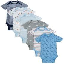 Short Sleeve Bodysuits, 6-Pack (Baby Boys) - $29.44