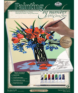 """Paint By Number Kit Artist Canvas Series 9""""X12""""-Floral Still Life - $18.19"""