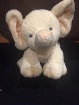 Ty Beanie Pluffies Baby P'Nut Yellow Elephant Plush Peanut Checkered Ear... - $19.75