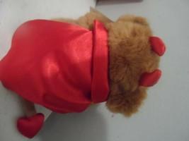 "6"" Russ Valentine Teddy Bear Dante Devil Hang Tag Brown Red Plush Stuffed Animal - $12.82"