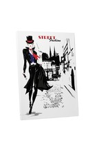 "Pingo World 0707Q55NATY ""Street Fashion"" Gallery Wrapped Canvas Wall Art... - $43.51"