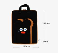 """Brunch Brother Laptop Case Bag Sleeve Pouch Briefcase 13"""" to 14"""" (Burnt Toast) image 6"""