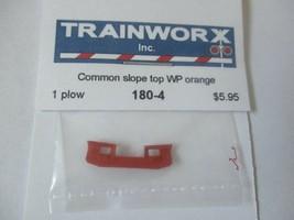 Trainworx Stock #180-4 Snowplow Common Slope Top WP Orange N-Scale image 1