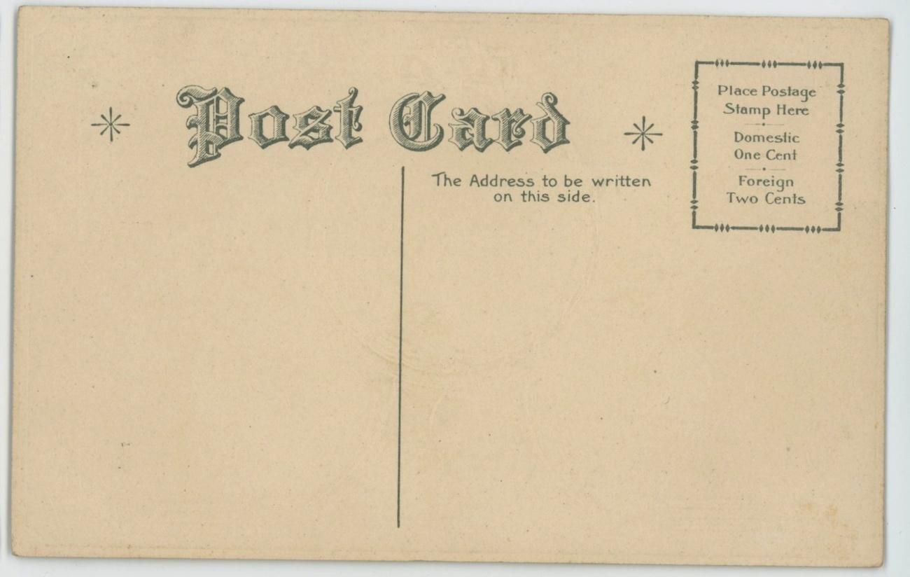 Birthday greeting vintage postcard lillacs wreath 1900