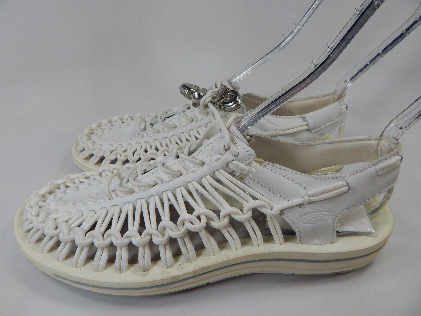 Keen Uneek Leather Sandals Men's Size US 9 M (D) EU 42 White/ Star White $110
