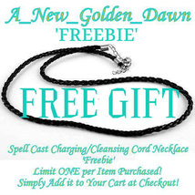 FREEBIE! Spell Cast Charging Cleansing Cord Necklace 4 Enchanted Haunted... - $0.00