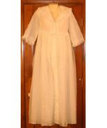 Vintage Robe Penoir Harrods of London White Pink Lace Sz 14 - $50.00