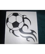 Soccer Ball with Flames Vinyl Wall Decal 11 x 1... - $3.50