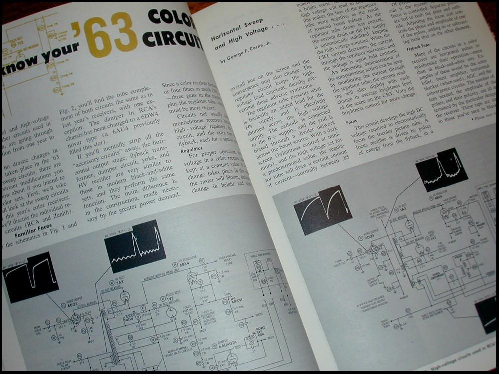 PF REPORTER 63' Color Circuitry ANTENNAS Sams Photofact RARE Magazine April 1963