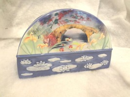 Oriental Garden Floral Toothbrush Holder Ceramic Stand Bathroom Dental O... - $7.69