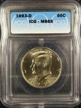 1993-D 50C JFK Kennedy Half Dollar MS65 ICG Certified Gem Brilliant UNC - $11.04