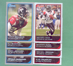 2006 Bowman Atlanta Falcons Football Team Set
