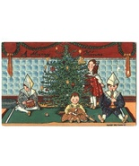 Xmas greeting vintage postcard Sander childen toys tree 1908 - $9.99